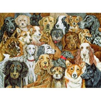quadros de animais - Quadro -Dog Spread, 1989- - Ditz