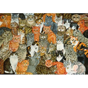 quadros de animais - Quadro -The Owls and the Pussycats- - Ditz