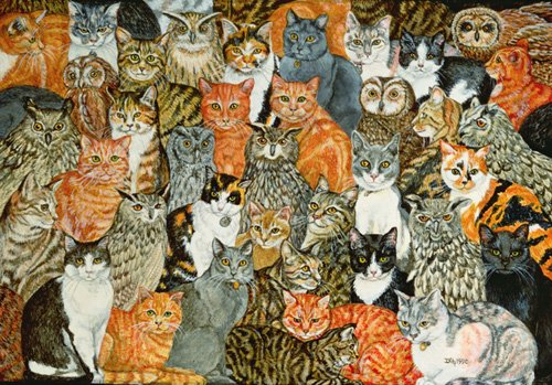 quadros-modernos - Quadro -The Owls and the Pussycats- - Ditz