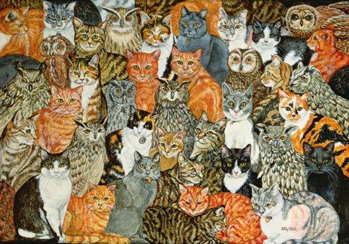 quadros-modernos - Quadro -The Owls and the Pussycats- - Ditz