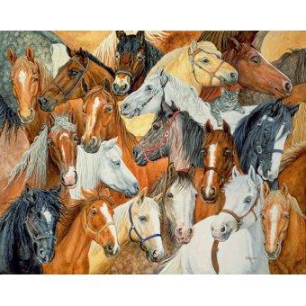 quadros de animais - Quadro -Dee's Horse-Blanket- - Ditz
