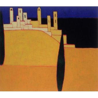 quadros de paisagens - Quadro -San Gimignano, Tuscany, 2000- - Donne, Eithne