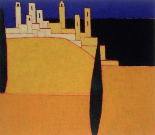quadros-modernos - Quadro -San Gimignano, Tuscany, 2000- - Donne, Eithne