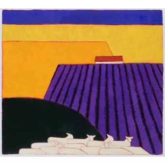 quadros de paisagens - Quadro -Sheep and Lavender Fields, 2004- - Donne, Eithne