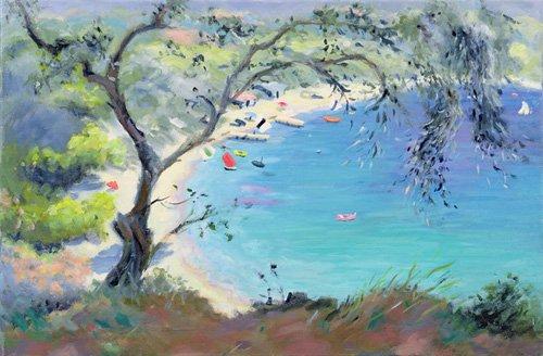 quadros-de-paisagens-marinhas - Quadro -Lichnos Bay, Epirus, Greece, 1995- - Durham, Anne