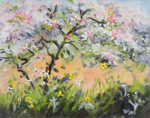 quadros-de-paisagens-marinhas - Quadro -Spring Blossom- - Durham, Anne