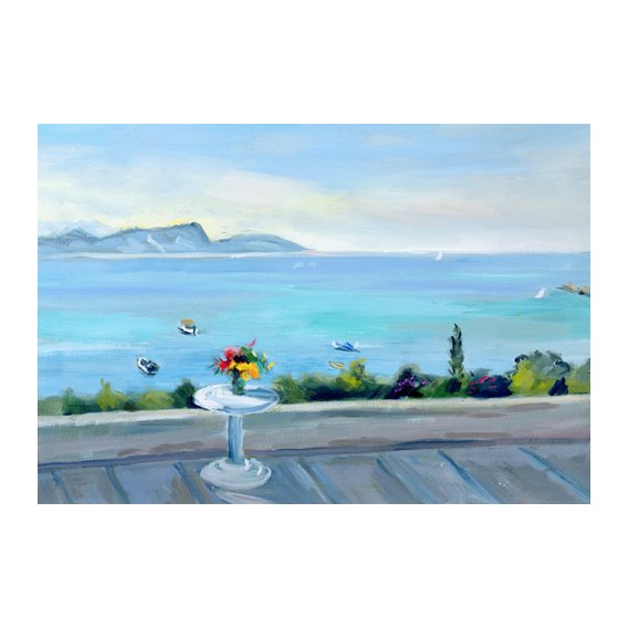 Quadro -A terrace looking out to sea-
