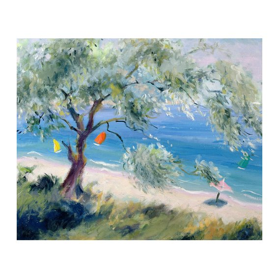 Quadro -Looking on to a beach-