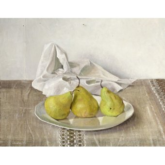 Quadros para sala de jantar - Quadro -Three Pears on a Plate, Still Life, 1990- - Easton, Arthur