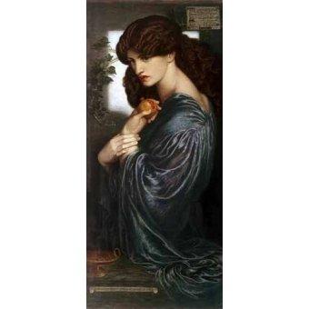 pinturas de retratos - Quadro -Proserpina- - Rossetti, Dante Gabriel