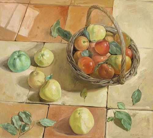naturezas-mortas - Quadro -The Apple Basket- - Easton, Timothy