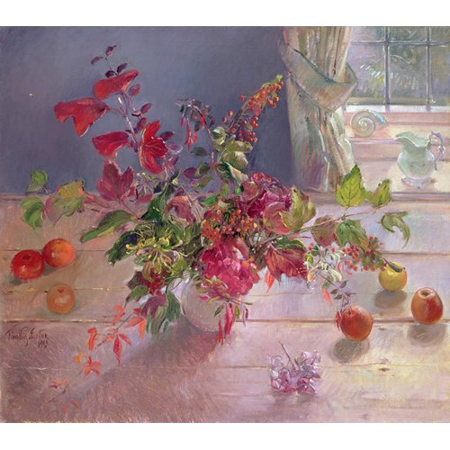 Quadro -Honeysuckle and Berries, 1993-