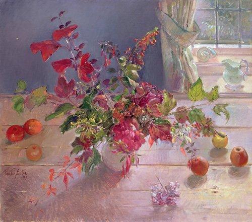 naturezas-mortas - Quadro -Honeysuckle and Berries, 1993- - Easton, Timothy