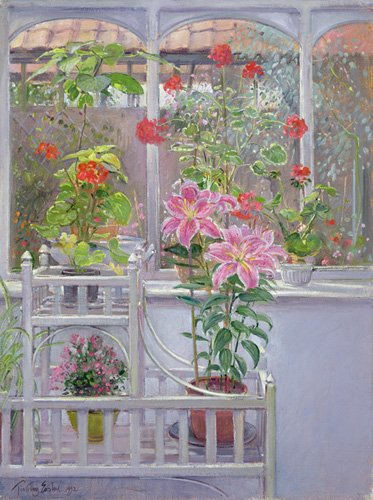 naturezas-mortas - Quadro -Through the Conservatory Window, 1992 - - Easton, Timothy