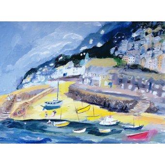 quadros de paisagens marinhas - Quadro -Mousehole, Cornwall, 2005- - Elliot, Sophia