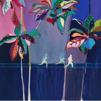 Quadros abstratos - Quadro -Rainbow Run- - Evans, Charlotte