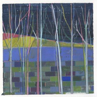 quadros de paisagens - Quadro -stripes- - Evans, Charlotte