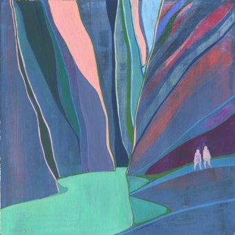 Quadros abstratos - Quadro -Canyon- - Evans, Charlotte