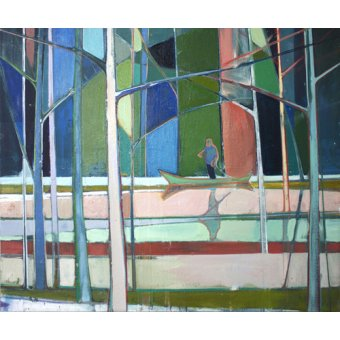 Quadros abstratos - Quadro -flooded forest- - Evans, Charlotte