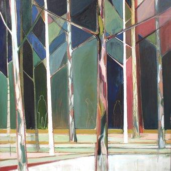 quadros de paisagens - Quadro -wood for trees- - Evans, Charlotte