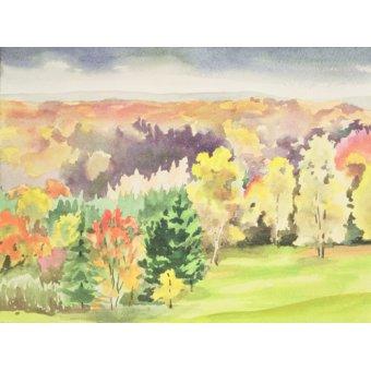 quadros de paisagens - Quadro -  No.64 Autumn, Beaufays, Liege, Belgium - - Godlewska de Aranda, Izabella