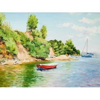 - Quadro -Boats at Skiathos, Greece- - Fandino, Anthony
