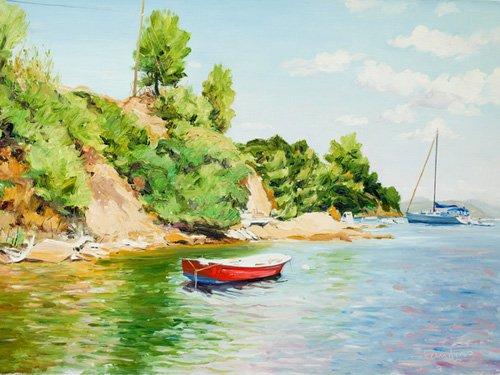 quadros-de-paisagens-marinhas - Quadro -Boats at Skiathos, Greece- - Fandino, Anthony