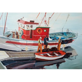 - Quadro -Fishing Boat at Nerja, Spain- - Fandino, Anthony