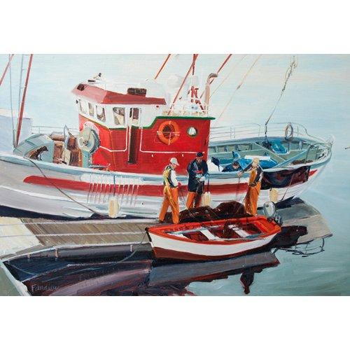 Quadro -Fishing Boat at Nerja, Spain-