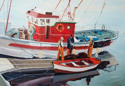 quadros-de-paisagens-marinhas - Quadro -Fishing Boat at Nerja, Spain- - Fandino, Anthony