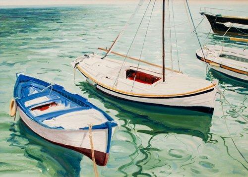 quadros-de-paisagens-marinhas - Quadro -Boats at Skiathos (I), Greece- - Fandino, Anthony
