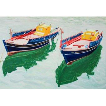 - Quadro -Boats at Skopelos, Greece- - Fandino, Anthony