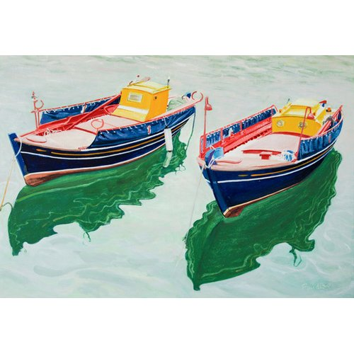 Quadro -Boats at Skopelos, Greece-