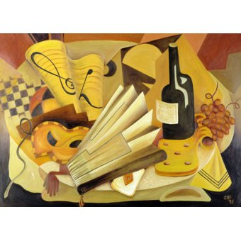 Quadros abstratos - Quadro - A Theatrical Dinner, 1998 - - Hubbard-Ford, Carolyn