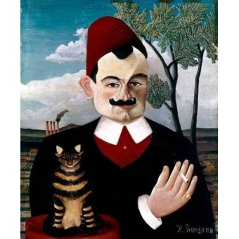pinturas de retratos - Quadro -Retrato de Pére Loit- - Rousseau, Henri