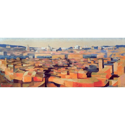 Quadro -Rome, View from the Spanish Academy on the Gianicolo, Dusk, 1968-
