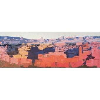 - Quadro -Rome, View from the Spanish Academy on the Gianicolo, Sunset, 1968- - Godlewska de Aranda, Izabella