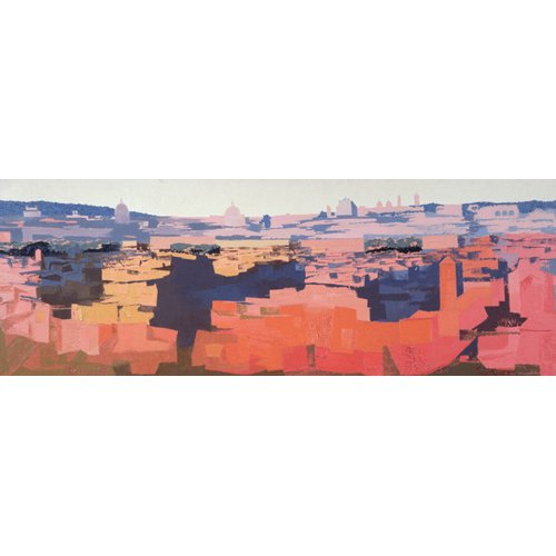 Quadro -Rome, View from the Spanish Academy on the Gianicolo, Sunset, 1968-