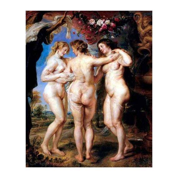 pinturas do retrato - Quadro -Las tres gracias-
