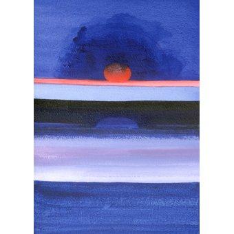 Quadros abstratos - Quadro -Seascape, Sunset, Helsinki, 1991- - Godlewska de Aranda, Izabella