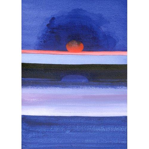 Quadro -Seascape, Sunset, Helsinki, 1991-