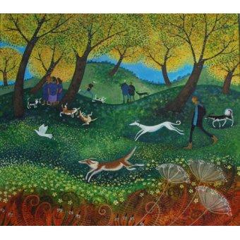 quadros de paisagens - Quadro -Doggie Pals, 2012- - Graa Jensen, Lisa