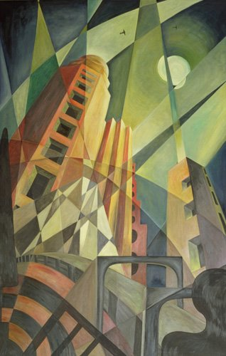 quadros-abstratos - Quadro  -City in Shards of Light- - Hubbard-Ford, Carolyn