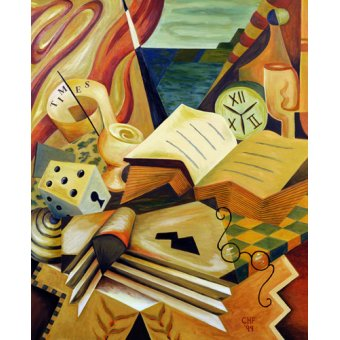 Quadros abstratos - Quadro -The Reading Corner, 1999- - Hubbard-Ford, Carolyn
