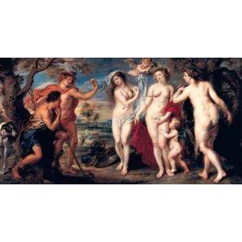 quadros nu artistico - Quadro -Juicio de Paris- - Rubens, Peter Paulus