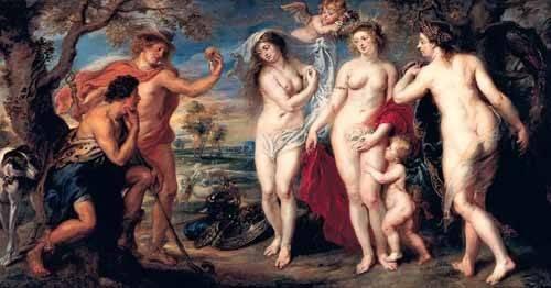 cuadros de retrato - Cuadro -Juicio de Paris- - Rubens, Peter Paulus