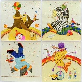 quadros infantis - Quadro -Animal Circus II- - Kaempf, Christian
