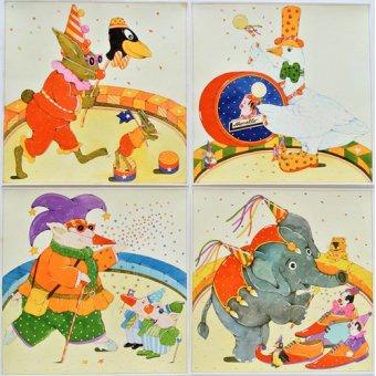 quadros infantis - Quadro -Animal Circus - - Kaempf, Christian