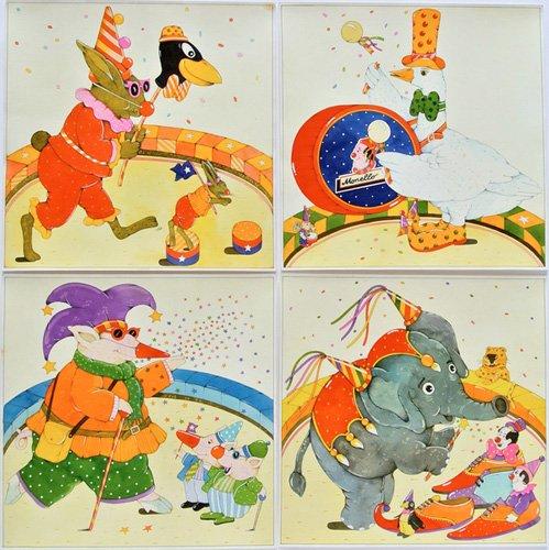 quadros-infantis - Quadro -Animal Circus - - Kaempf, Christian