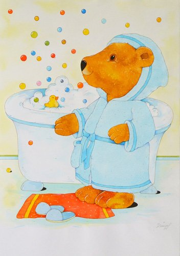 quadros-infantis - Quadro -Bathroom- - Kaempf, Christian